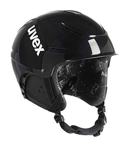 Uvex Unisex– Erwachsene Skihelm p1us, 1st Black Rent, 55-59 cm