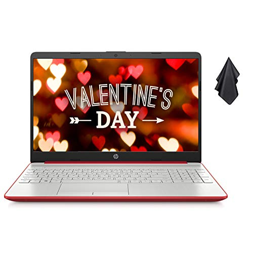 "2021 Newest HP Pavilion 15.6"" HD Laptop, Intel Dual-core Pentium Processor, Intel UHD Graphics, 8GB RAM, 500GB HDD, HD Webcam, Bluetooth, HDMI, USB Type-C, Scarlet Red, Windows 10 + Oydisen Cloth"