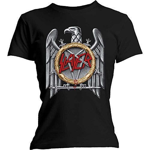 T-Shirt # L Black Femmina # Silver Eagle