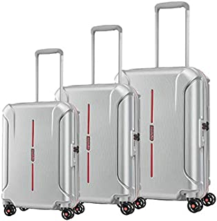 American Tourister Luggage Trolley Bags For Unisex, 3 Pieces - Silver