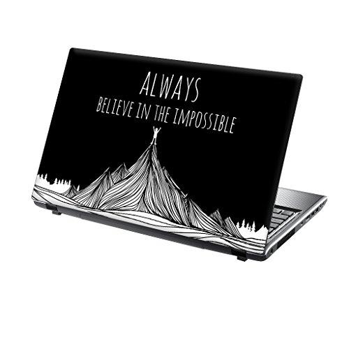 """TaylorHe Adesivo per computer portatile da 15-15,6 """", in vinile, motivi colorati ed effetto pelle, laminato, prodotto in Inghilterra"""