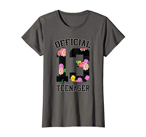 Damen Mädchen Geschenk Offizieller Teenager 13. Geburtstag T-Shirt