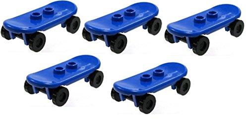 LEGO CITY - 5x sehr seltenes Skateboard für Minifiguren in blau - 42511