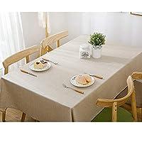 GX テーブルクロス- 現代ミニマリスト防水長方形家庭用ホテルのテーブルクロス、ソリッドカラーコーヒーレストランのテーブルクロス,新しい (色 : Beige, サイズ : 90*90cm)