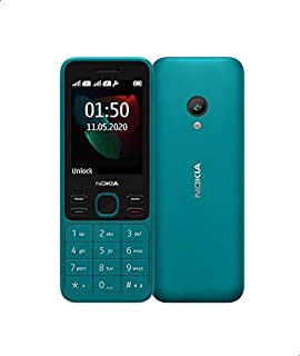 Nokia 150 Dual Sim Mobile Phone - 2.4 Inches, 4 MB, 4 MB RAM, 2G - Cyan