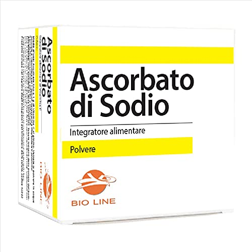 Ascorbato di sodio in polvere 1000 g (40 bustine da 25 g) (Scatola 40 bustine da 25 g)