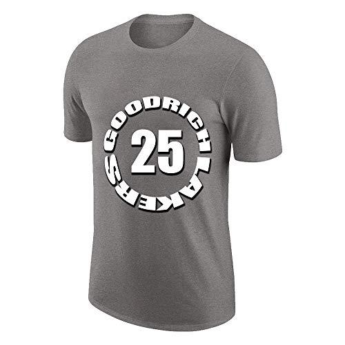NQFL Ventiladores de Baloncesto para Hombres Camiseta de Manga Corta GAIL Goodrich # 25 Deportes Transpirable Moda gráfica Cuello Redondo Camisa S-XXXL (Color : Gray, Size : Large)
