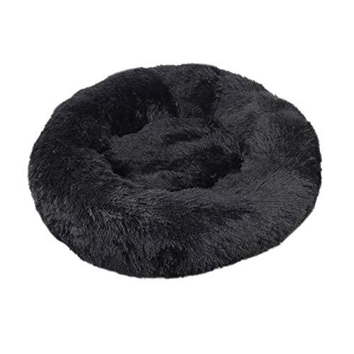 Suave Cama para Perros de Mascotas Cómodo Donut Donut Redondo Súper Suave Lavable Cat y Perro Cojín Cojín de Cojín de Invierno Sofá cálido para Cachorros y Gatitos (Color : M, Size : XXL 80CM)