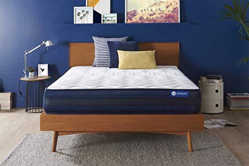Materasso Actiflex tech 160x195cm, Spessore : 24 cm, Molle insacchettate e memory foam, Molto rigido, 5 zone di comfort