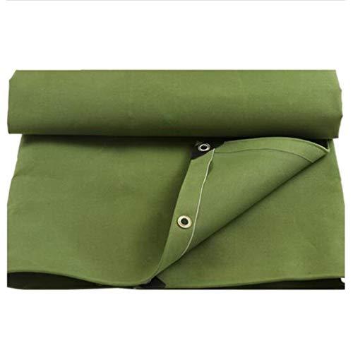 L&Y Zelte Außenplane Markise, LKW Camping Zelt Regenplane 450g / M2, grün doppelseitig wasserdicht, perforiert (Size : 4x7m)
