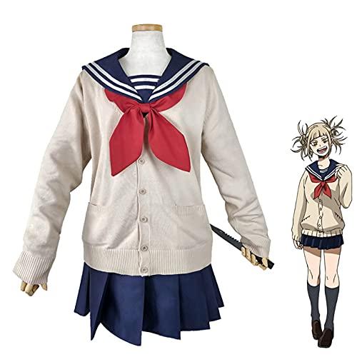 GNZY My Hero Academia Cosplay Disfraz Anime Cosplay Boku No Hero Academia Himiko Toga Jk Uniforme De Marinero para Mujer con Suéteres