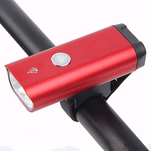 LOKKRG Wiederaufladbare Fahrradleuchte, Fahrradleuchte Deutsche Vorschriften Scheinwerfer USB Wiederaufladbare Aluminium-Taschenlampe Nacht