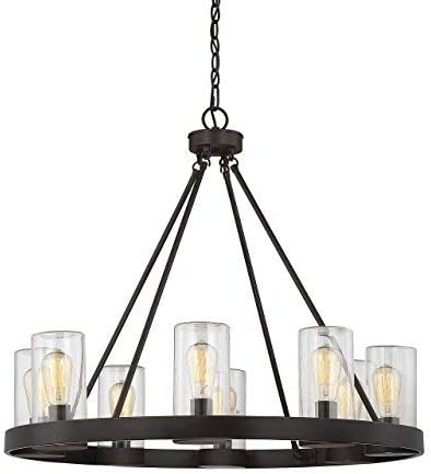 wholesale Savoy House 1-1130-8-13 outlet sale Inman discount 8-Light Outdoor Chandelier in English Bronze Finish online sale