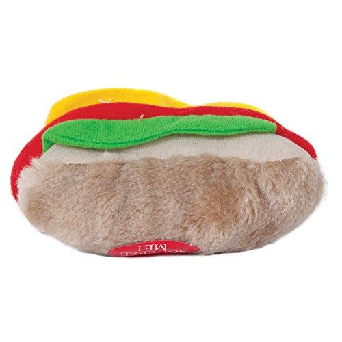 Aspen Pet Products Soft Bite Hot Dog Toy, Medium