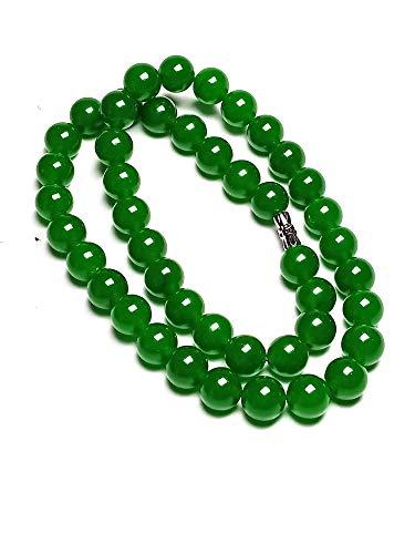 Halskette Handgefertigt Natürliche grüne Jadeperlen, 45,7cm