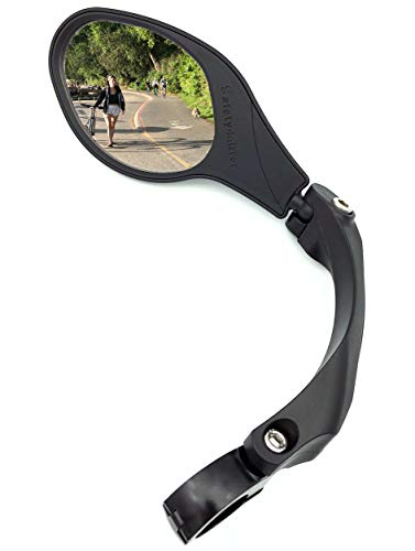Hafny Handlebar Bike Mirror, Stainless Steel Mirror, Bicycle Rearview Mirror, HF-MR081 (Left)