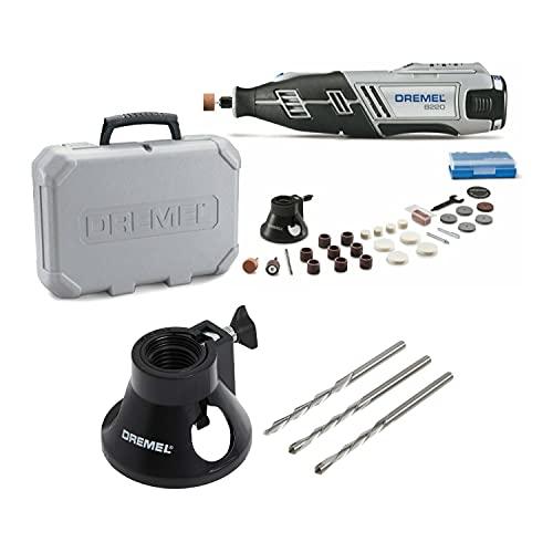 Dremel 8220 Series 12VMax Cordless Rotary Tool with Multi-Purpose Cutting Kit Bundle (2 Items)