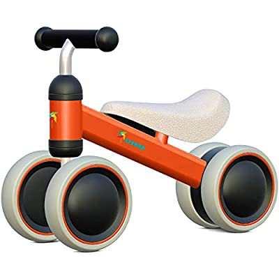 Baby Balance Bike - Baby Bicycle for 6-24 Months, Sturdy Balance Bike for 1 Year Old, Perfect as First Bike or Birthday Gift, Safe Riding Toys for 1 Year Old Boy Girl Ideal Baby Bike (Orange)