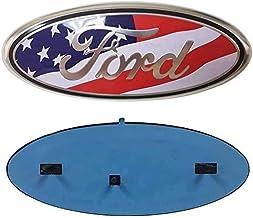 11-14 Edge American Flag Front Grille Emblem F150 Emblem Ford Tailgate Emblem Oval 9X3.5 Fits for 04-14 F250 F350 9inch Emblem for Ford 06-11 Ranger 11-16 Explorer