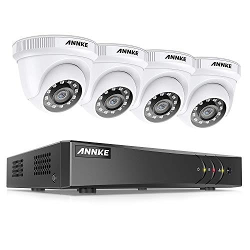ANNKE Kit de Seguridad 4CH 5MP-N H.265+ DVR sin Disco Duro de Videovigilancia CCTV 4 Cámara Sistema de Vigilancia 1080P IP66 Impermeable Visión Nocturna - sin HDD