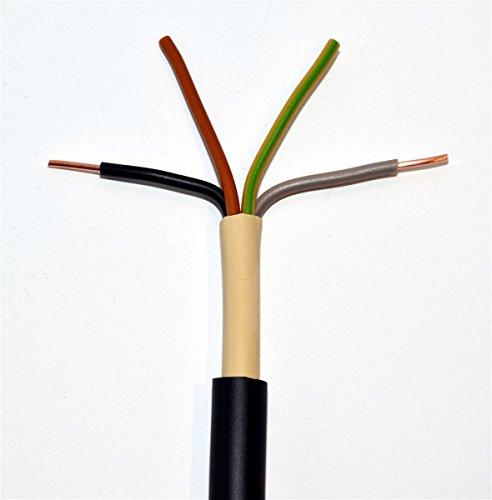 METERWARE Erdkabel NYY-J 4x16 mm² RE schwarz 4x16 qmm Starkstromkabel Energiekabel - bestellte Menge entspricht der gelieferten Gesamtlänge