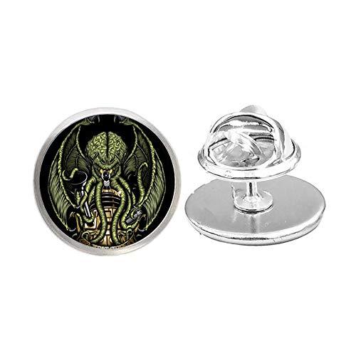 Broche hecho a mano, Kraken Glass Dome Pin, regalo para ella, joyería libre nekel, broche delicado, simple broche, N118