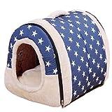Casa para mascotas, casa plegable para gatos, cama de invierno cálida y lavable para perros, estera de felpa para dormir, perros pequeños, gatos, hogar, nido, cachorro Sher