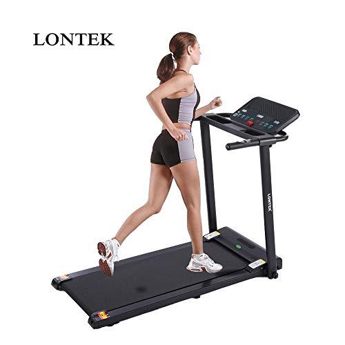 lontek P5 Profi Laufband | elektrisch und klappbar | mit 12 Programme,bis zu 10 km/h, 90 kg Belastbarkeit,Sport Fitness Training