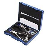 CKQ-KQ Kits de reparación de gafas, montura de gafas sin montura y kit óptico de alicates para reparación de herramientas de desmontaje