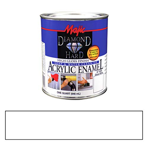 Majic Paints 8-1500-2 Diamond Hard Acrylic Enamel High Gloss Paint, 1- Quart, Gloss White