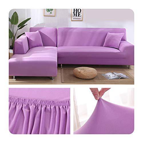 ZaHome Funda elástica de sofá para sala de estar, esquina en U, funda de sofá todo incluido, fundas de sofá en forma de L necesitan comprar 2 piezas - 016-3 plazas y 3 plazas