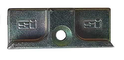 Siegenia Schließblech 1600 Schließteil Fensterriegel L x B x H = 45 x 17 x 8/14mm