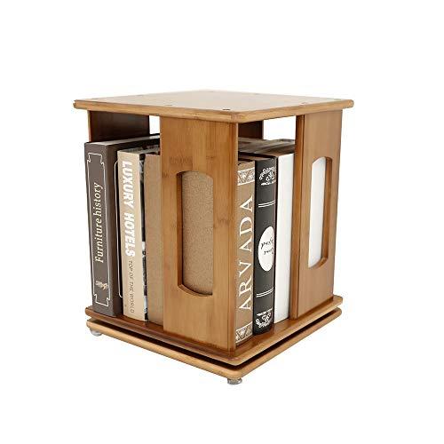 Librerie YANFEI, Mensola di bambù, scaffale Girevole a 360 Gradi, Marrone (Dimensioni : 33 * 33 * 39cm)
