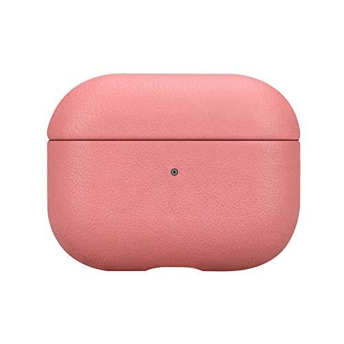 fooyin [Handmade Series Étui en Cuir pour AirPods Pro, Protection Coque (Cuir de Mouton) Housse Compatible avec Apple AirPods Pro, Rose
