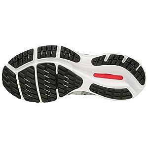 Mizuno Women's Wave Rider 24 Running Shoe, Lunar Rock-Nimbus Cloud, 9 B US