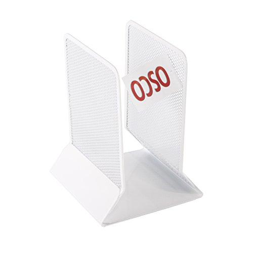 OSCO Arctic White Wire Mesh Bookend
