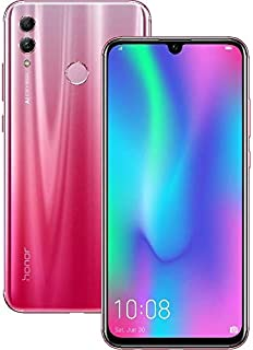 Honor 10 Lite Dual Sim - 64GB, 3GB RAM, 4G LTE, Shiny Red