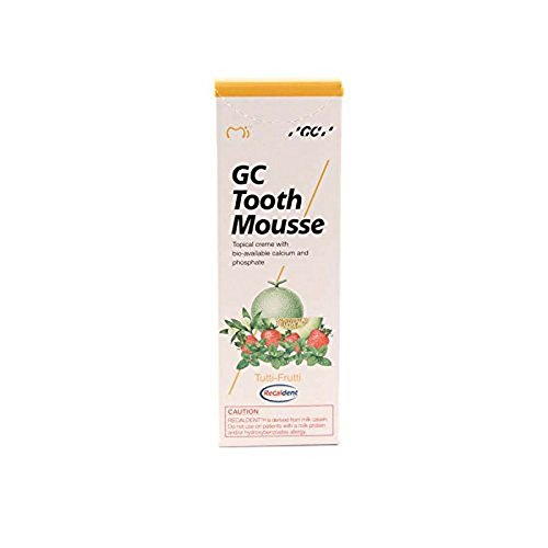 Gc Tooth Mousse Crema De Protección Diente Tutti-Frutti, 1-Pack (1 X 40 G)