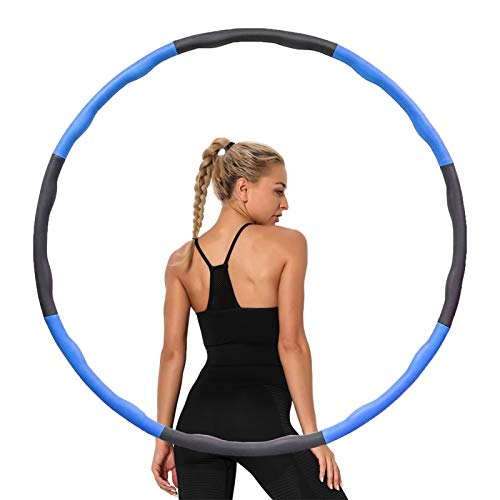 langking Hula Hoop,Hula Hoop Reifen Erwachsene, 6-8 Segments Removable Hula Hoop for Adults & Children for Sports, Suitable for Fitness, Sports, Home, Office, Adjustable Hoola Hoop
