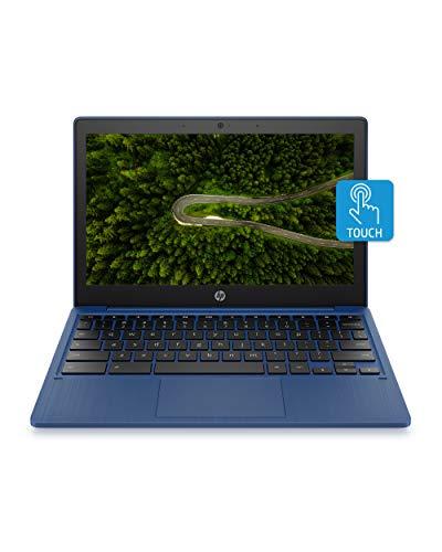 HP Chromebook 11-inch Laptop - MediaTek - MT8183 - 4 GB RAM - 32 GB eMMC Storage - 11.6-inch HD IPS Touchscreen - with Chrome OS - (11a-na0060nr, 2020 Model, Indigo Blue)