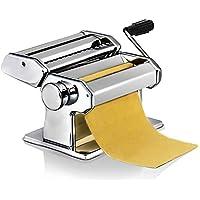 Máquina para Hacer Pasta Fresca Manual Máquina de Cortar Pasta de Acero Inoxidable con Manivela 7 cortes ajustes Fácil Manejo Para Casa Cocina Fideos Masa Tagliatelle Lasaña Espaguetis Plata (Platedo)