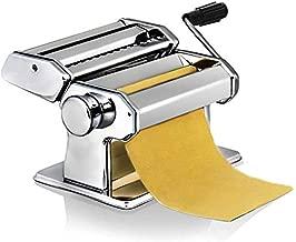 Sailnovo Macchina per Pasta Manuale in Acciaio Inossidabile per la Preparazione Tagliatelle/Spaghetti/Lasagna/Ravioli
