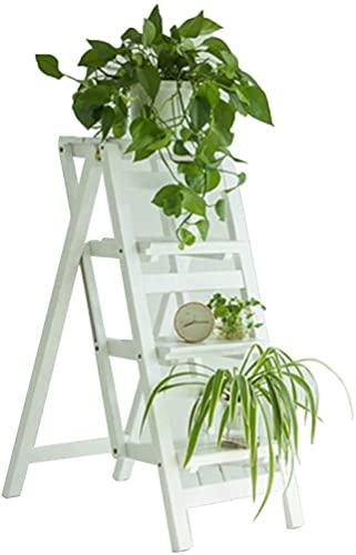 Taburetes de escalones para adultos Asientos de escalera de escalera plegables de madera Stealtilla de la escalera de madera Escalera de 4 pasos Portátil Flower Rack Banco de zapatos Home Kitchen Indo