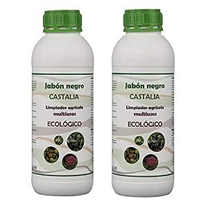 Castalia Jabón Negro Ecológico - Pack 2 de litros Total - Fertilizante e Insecticida de Alta Eficacia contra Mosca Blanca, Araña Roja, Trips, Cochinilla y Pulgón - Jabón Potásico