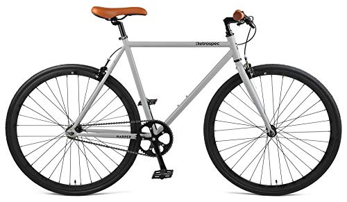 Retrospec Harper Single-Speed Fixed Gear Urban Commuter Bike, 53cm, m, Slate