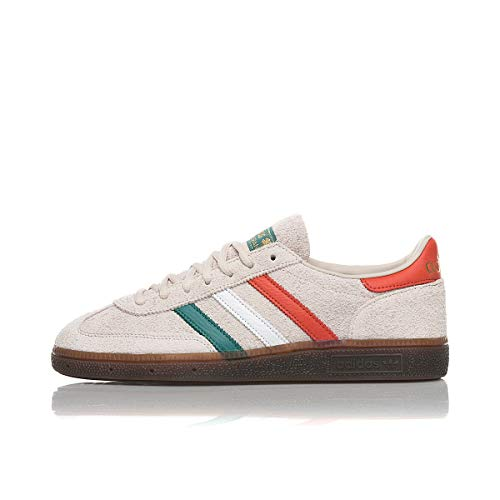 adidas Originals Handball Spezial, Clear Brown-Footwear White-Gold Metallic, 10