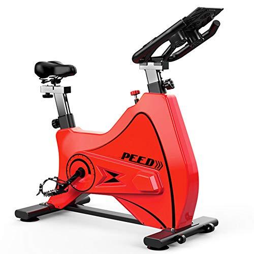 HARMON Bicicleta Estática, Frecuencia Cardíaca Inalámbrica Bluetooth Interactiva En Vivo, Sistema De Transmisión por Correa Ultra Silencioso, Entrenador Cardiovascular Ideal,Rojo