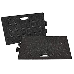 Traffic Safety Products 5051124416036 Kerb RAMPS - Juego de 2 rampas (2 Unidades), Color Negro.