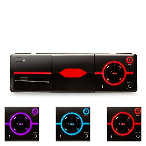 auna MD-640 - Autoradio, Car-Radio, Car-HiFi-Set, Bluetooth, USB/SD/MMC, UKW-Radiotuner, MP3, AUX-Eingang, 4 x Cinch-Ausgänge, Freisprechanlage, 4 x 25 W RMS Leistung, schwarz