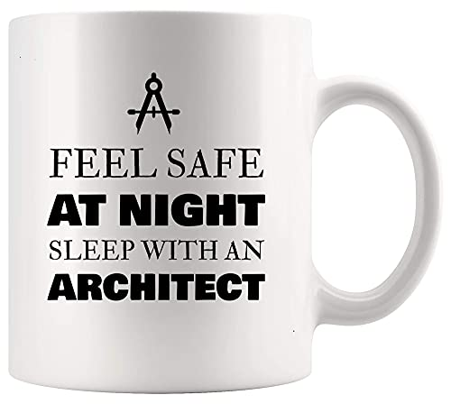 N\A Arquitecto Arquitectura Taza Copa Feel Noche de sueño Seguro con el Arquitecto Arquitectura arquitectónica construcción 11oz Copa